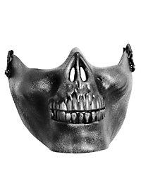 Masque mâchoire argenté