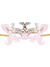 Masque vénitien papillon en métal