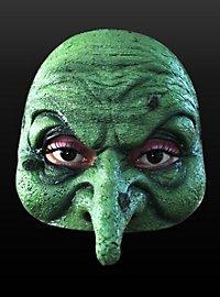 Masque vert de sorcière en latex