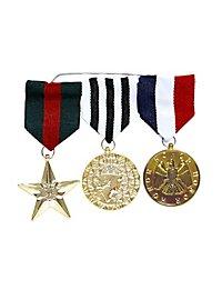 Médailles sur barrette
