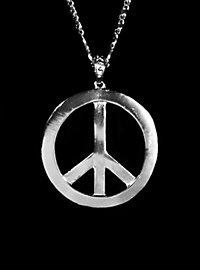 Médaillon Peace de luxe argenté