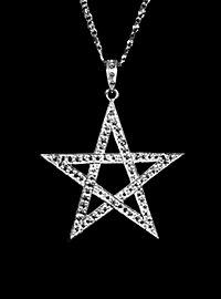 Médaillon pentagramme argenté