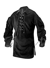 Medieval Cotton Blouse black