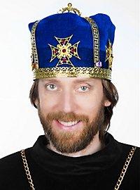 Medieval Crown Cap royal blue