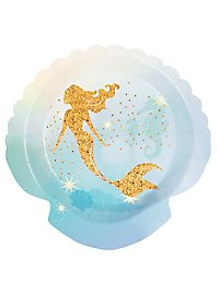 Meerjungfrau Pappteller 6 Stück