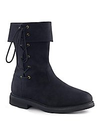 Men's leatherette boots with lacing black