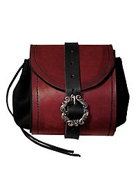 Merchant Leather Pouch red