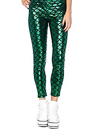Mermaid leggings green