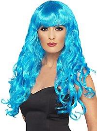 Mermaid Lockenperücke hellblau