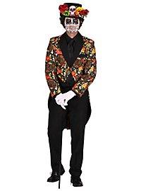 Mexican skull and crossbones men's coat colorful