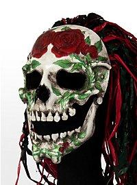 Mexikanischer Rosenschädel Ledermaske