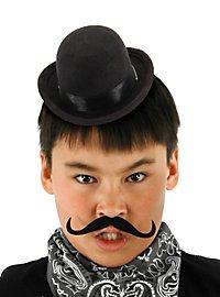 Mini chapeau melon steampunk noir