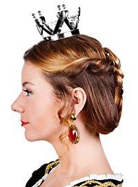Mini Crown Queen of Hearts silver