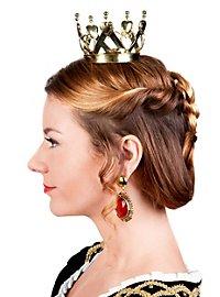 Mini Krone Herzkönigin gold