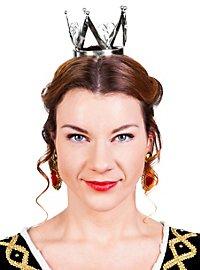 Mini Krone Märchenprinzessin silber