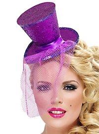Mini Top Hat Hair Band violet