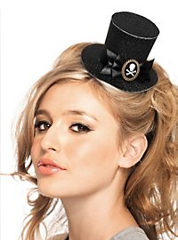 Mini Top Hat with Pirate Brooch