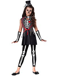 Miss Muerte skeleton costume for children