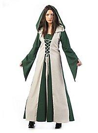 Mittelalter Kostüm Burgfräulein dunkelgrün
