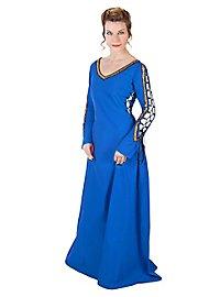 Mittelalterliches Schnürkleid blau