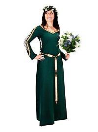 Mittelalterliches Schnürkleid grün