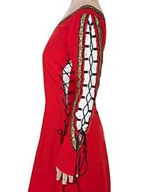 Mittelalterliches Schnürkleid rot