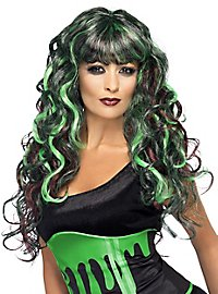 Monster curly wig black-green