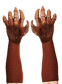 Monsterhände braun aus Latex