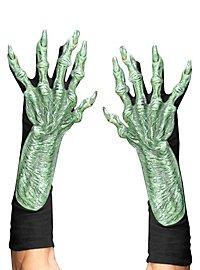 Monsterhände grün aus Latex