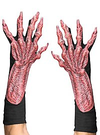 Monsterhände rot aus Latex