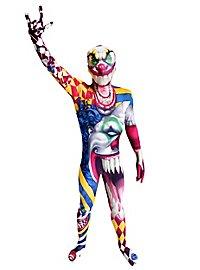 Morphsuit children clown full body costume