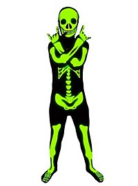 Morphsuit children luminous skeleton full body costume