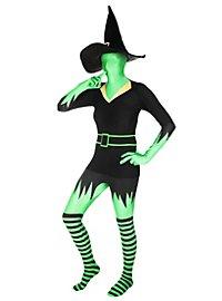 Morphsuit Grüne Hexe Ganzkörperkostüm