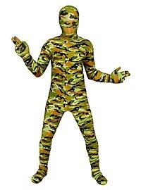 Morphsuit Kinder Camouflage Ganzkörperkostüm