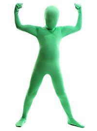 Morphsuit Kinder grün Ganzkörperkostüm