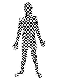 Morphsuit Kinder Schachbrett Ganzkörperkostüm