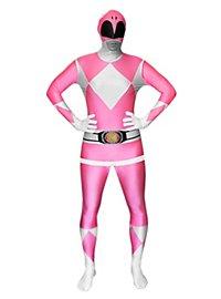 Morphsuit Pinkfarbener Power Ranger Ganzkörperkostüm