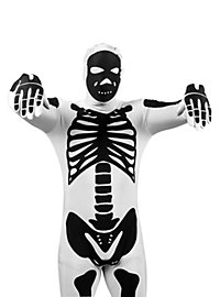 Morphsuit Skeleton white