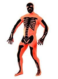Morphsuit Skelett orange Ganzkörperkostüm