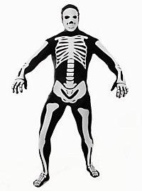 Morphsuit Skelett schwarz Ganzkörperkostüm
