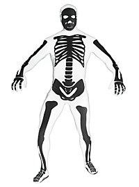 Morphsuit Skelett weiß Ganzkörperkostüm