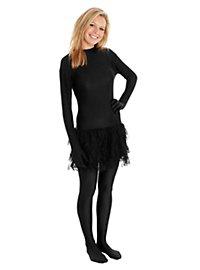 Morphsuit Tutu black Full Body Costume