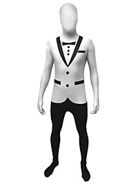 Morphsuit Tuxedo weiß Ganzkörperkostüm