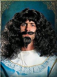 Kit barbe, moustache et perruque de mousquetaire