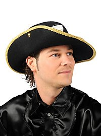 Musketeer Hat with gold trim