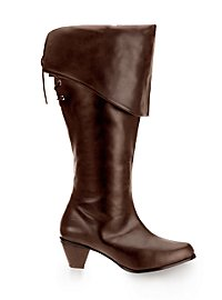 Musketeer Leather Boots Women brown