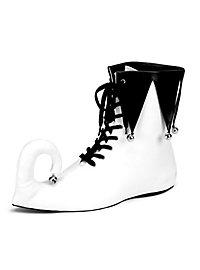 Narrenschuhe weiß-schwarz