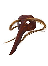 Naso Criniere Masque en cuir vénitien