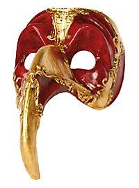 Naso Turco rosso oro - masque vénitien