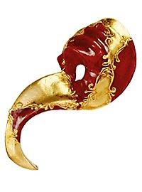 Naso Turco rosso oro - Venezianische Maske